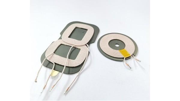 电动汽车采用磁感应无线充线圈电感